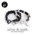 오뜨르 뒤 몽드(AUTOUR DU MONDE) CHAIN LEATHER BRACELET