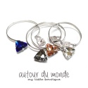 오뜨르 뒤 몽드(AUTOUR DU MONDE) CRYSTAL BANGLE BRACELET