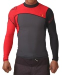 PRIME L/A 6OZ FITTED RASHGUARD - RED