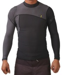 PRIME L/A 6OZ FITTED RASHGUARD - BLK