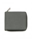 버밀란 지퍼반지갑 Nature Leather Zipper Wallet - gray