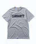 S/S College Print T-shirt Grey Heather Leopard Print Eclipse