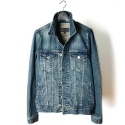 M0114 rugged washed denim jacket