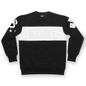 스턴트(STUNT) STUNT Chest Cutting Crewneck (Black)