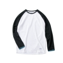 레이어 유니온(LAYER UNION) ELBOW PATCH RAGLAN TEE BLACK