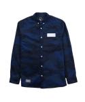 BRATSON CAMO Flage LS Shirt BLUECAMO