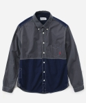 MIXED TWO TONE SHIRTS GRAY