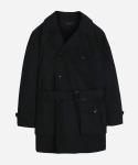 커버낫 C/N TWILL TRENCH COAT BLACK