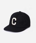 WOOL C LOGO B.B CAP BLACK