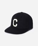 TWILL C LOGO B.B CAP BLACK