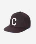 TWILL C LOGO B.B CAP BROWN