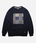 HRB PATCHWORK SWEAT _ NAVY