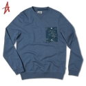 알타몬트(Altamont) [Altamont] WAVY CREW FLEECE (Pacific Blue)