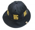 브래그(BRAGG) BRAGG GOLD LEATHER BUCKET HAT (BLACK)