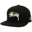 STUSSY STOCK MELTON CAP 131349-BLAC