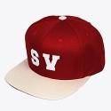 STV. SV SNAPBACK WINE/BEIGE