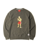 CHICKEN KILLER CREWNECK (GREY)
