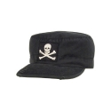 로스코(ROTHCO) VINTAGE BLACK JOLLY ROGER FATIGUE CAP
