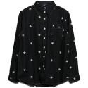 STUSSY BIG STARS L/SL SHIRT 111748-BLAC