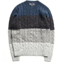 M#0273 nep stripe cable knit