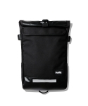 Juven Roll Top Messenger Bag Black
