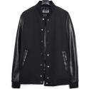 M0445 black bomber jacket