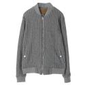UTO 113 wool pinstripe blouson_grey(남여공용)