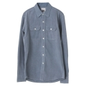 UTS 01 eagle denim shirts_blue(남여공용)
