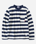 L/S STRIPE T-SHIRTS NAVY