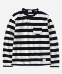 L/S STRIPE T-SHIRTS BLACK