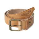 UTM 12 heavy leather eagle belt_beige