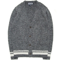 M0449 nep wool blend cardigan (charcoal)