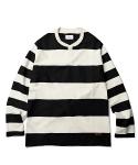 Ernest Border L/S Shirt Black Stripe