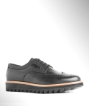 컬러콜라(COLOR COLLA) BLACK RIPPLE WING TIP BLUCHER