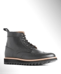 컬러콜라(COLOR COLLA) BLACK RIPPLE WING TIP BOOTS