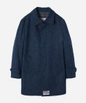 HARRIS TWEED MACKINTOSH COAT (맥코트) NAVY