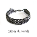 오뜨르 뒤 몽드(AUTOUR DU MONDE) WATCH STRAP MEN BRACELET (GREY)
