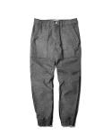 Kyp Woolike Rib Baker Pants Grey