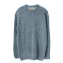 UTW 22 ample hairy crewneck knit_blue(남여공용)