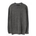 UTW 23 ample hairy crewneck knit_charcoal(남여공용)