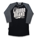 리쿼브랜드(LIQUOR BRAND) THE ORIGINAL BLACK RAGLAN 3/4 MEN
