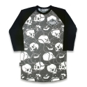 리쿼브랜드(LIQUOR BRAND) SKULLS AND CHAINS RAGLAN 3/4 MEN