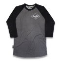 리쿼브랜드(LIQUOR BRAND) HOUNDSTOOTH RAGLAN 3/4 MEN
