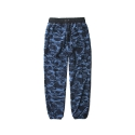 레이어 유니온(LAYER UNION) CAMO FLEECE PANTS BLUE