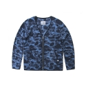 레이어 유니온() CAMO FLEECE CARDIGAN BLUE