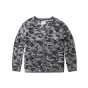 레이어 유니온() CAMO FLEECE CARDIGAN GREY