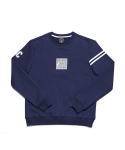 [TIMELESS] BASIC SQUARE LOGO SWEATSHIRT / TERRY (Navy)