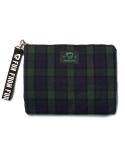 펀프롬펀 2way check coutch bag (green)