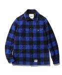 Enzo Big Block Padded C.P.O Jacket Black/Blue