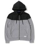 컬러블럭 집업후디(진챠콜/그레이) Color Block Zip Up Hoodie(deep charcoal/grey)